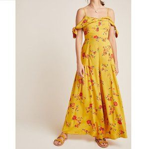 NWT Anthropologie Londonderry Floral Jumpsuit FLAW